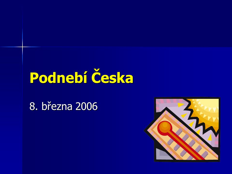 Podnebí Česka 8. března 2006