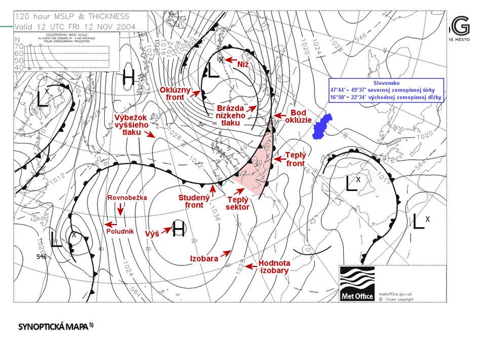 OPAKOVÁNÍ OPAKOVÁNÍ Jak je na synoptické mapě znázorněna tlaková výše.