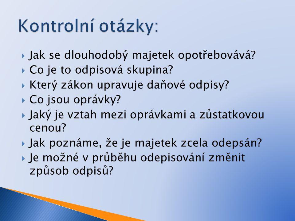  Štohl, P.Učebnice účetnictví 2011 – 2. díl pro střední školy a pro veřejnost.