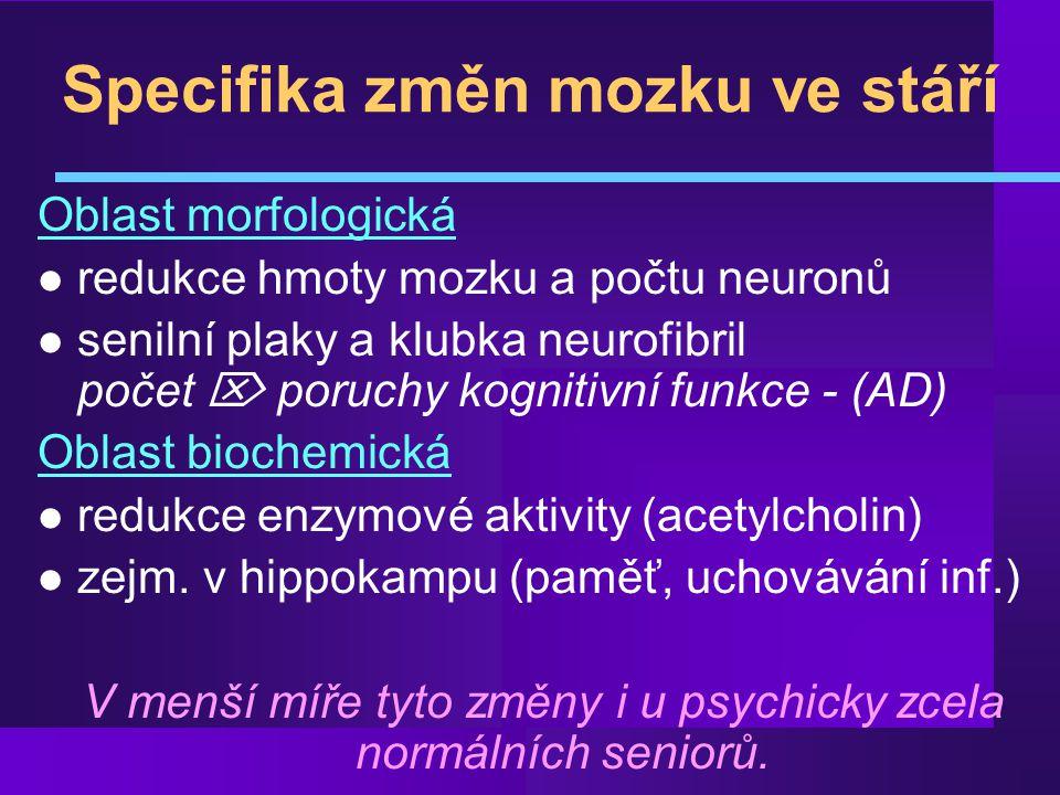 Vaskulární demence l Multiinfarktová d.– přev.