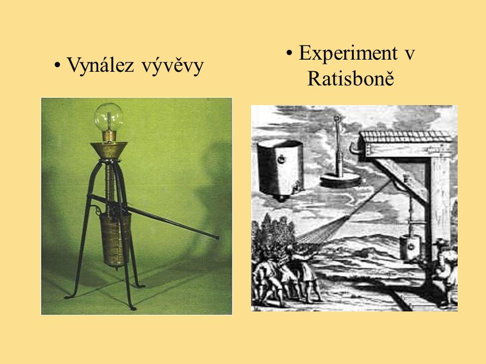 Vynález vývěvy Experiment v Ratisboně