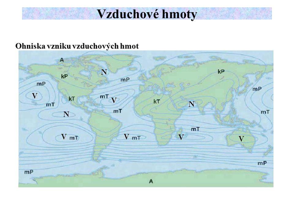 Arktický vzduch Oblast formování AV zahrnuje Arktický bazén (oblast Severního ledového oceánu a přilehlých moří), v zimě se ale rozšiřuje také na nejsevernější části kontinentů, hraničící a Arktidou - Aljaška, severní Kanada, Tajmír, Čukotka.