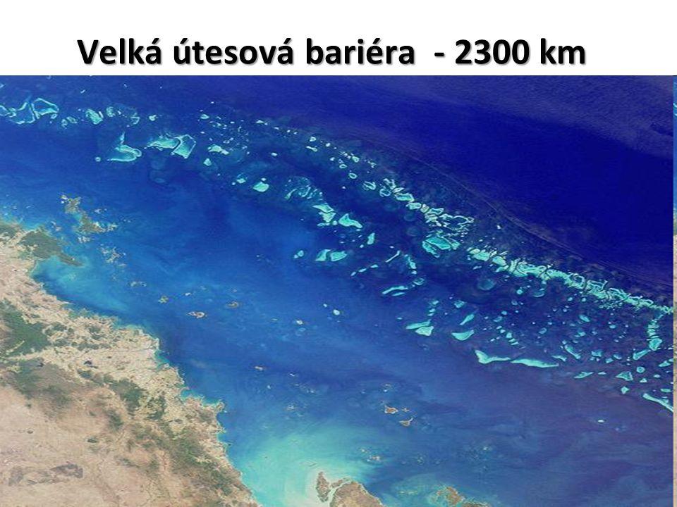 Velká útesová bariéra - 2300 km