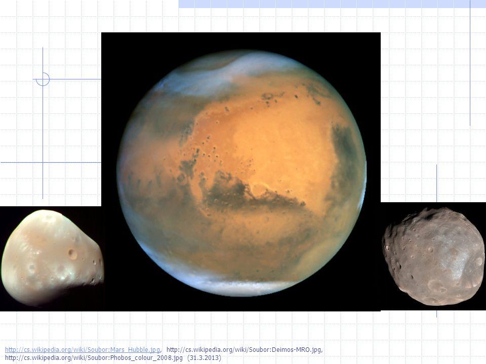 http://cs.wikipedia.org/wiki/Soubor:Mars_Hubble.jpghttp://cs.wikipedia.org/wiki/Soubor:Mars_Hubble.jpg, http://cs.wikipedia.org/wiki/Soubor:Deimos-MRO.jpg, http://cs.wikipedia.org/wiki/Soubor:Phobos_colour_2008.jpg (31.3.2013)