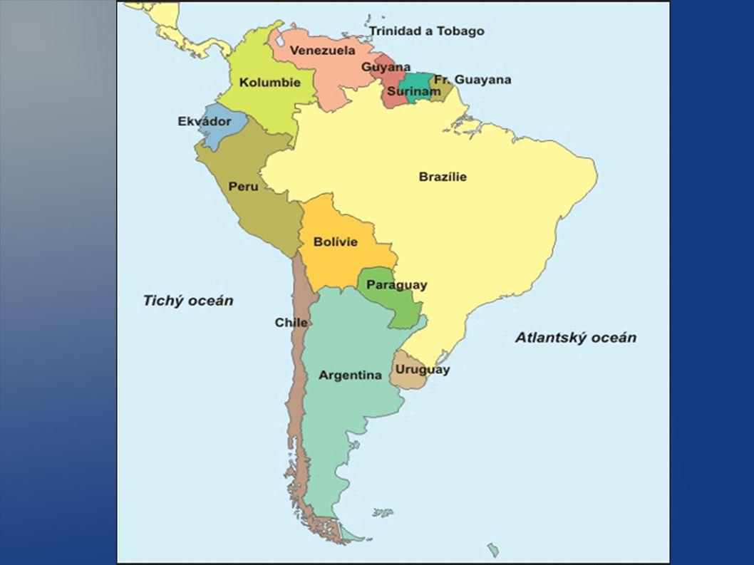 GEOGRAFIE - Jižní Amerika je jižní část amerického kontinentu, která se nachází na západní polokouli.