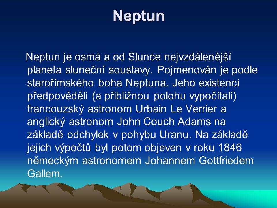 Uran Uran je sedmá planeta sluneční soustavy. Je to plynný obr, počítáno podle průměru třetí největší, má hmotnost jako 14,5 Zemí, velká poloosa jeho