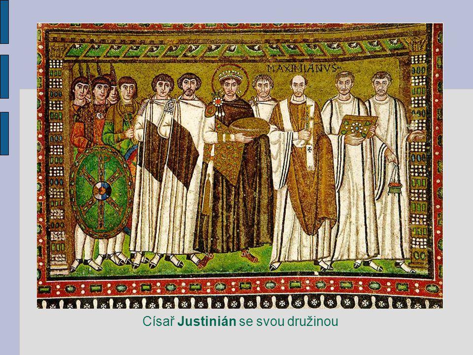 Císař Justinián se svou družinou