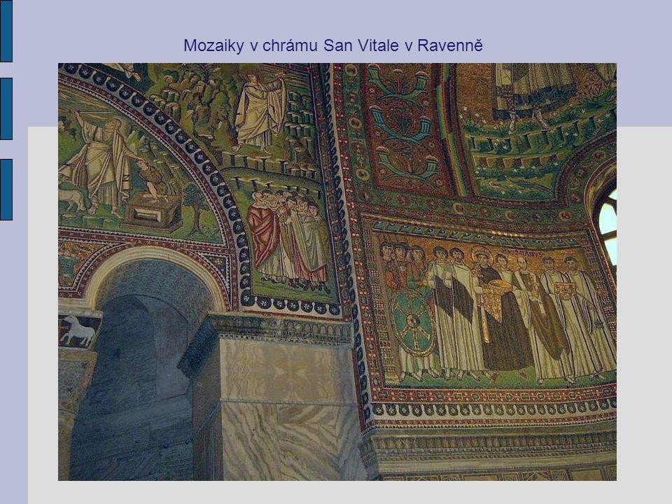 Mozaiky v chrámu San Vitale v Ravenně