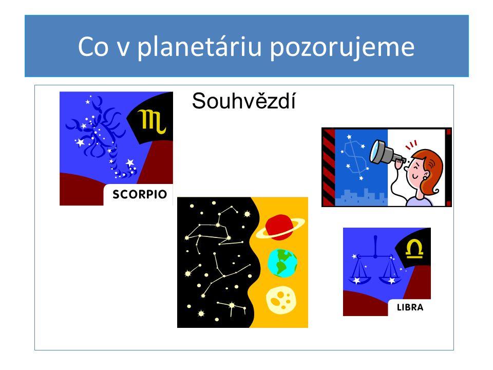 Co v planetáriu pozorujeme Souhvězdí