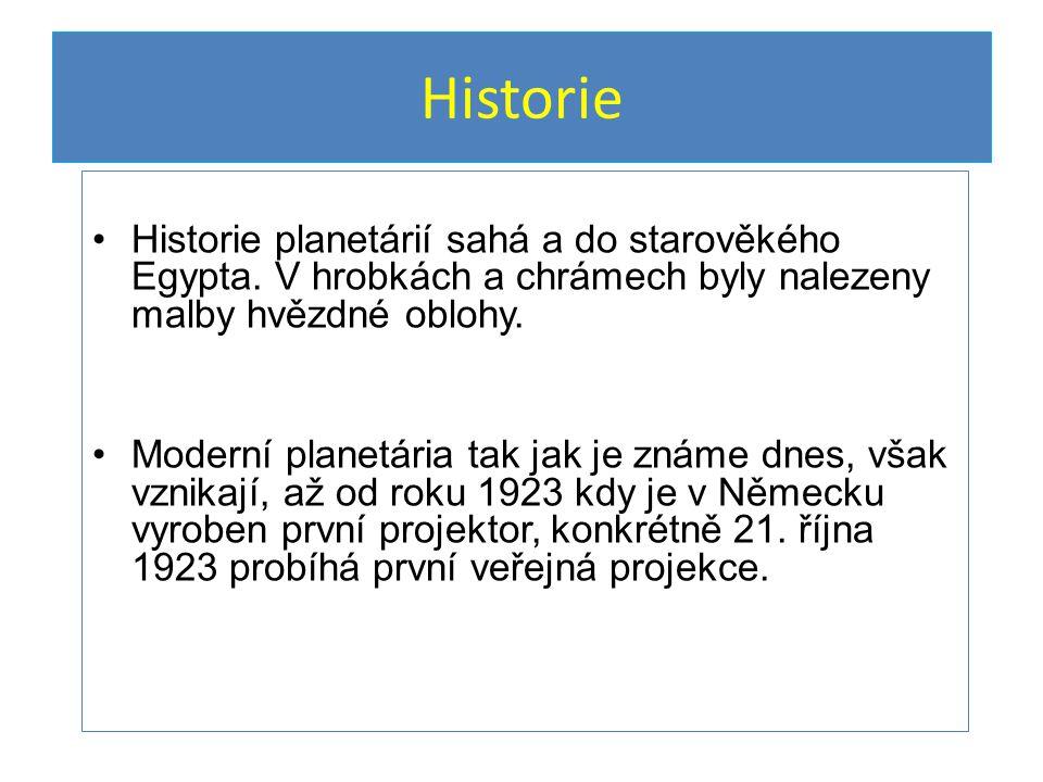 Historie Historie planetárií sahá a do starověkého Egypta.