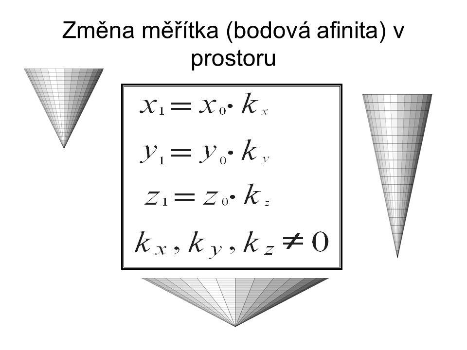 Změna měřítka (bodová afinita) v prostoru
