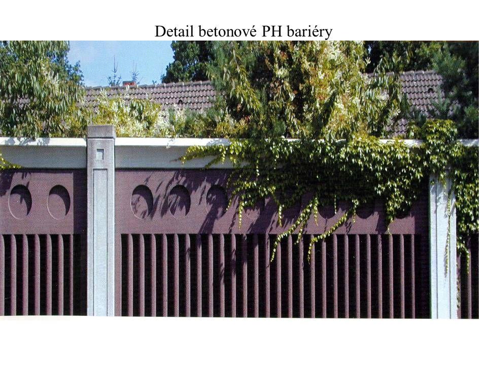 Detail betonové PH bariéry
