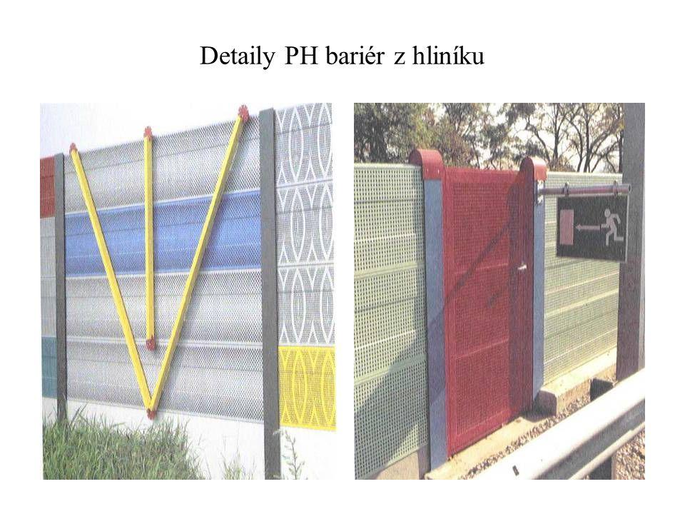 Detaily PH bariér z hliníku