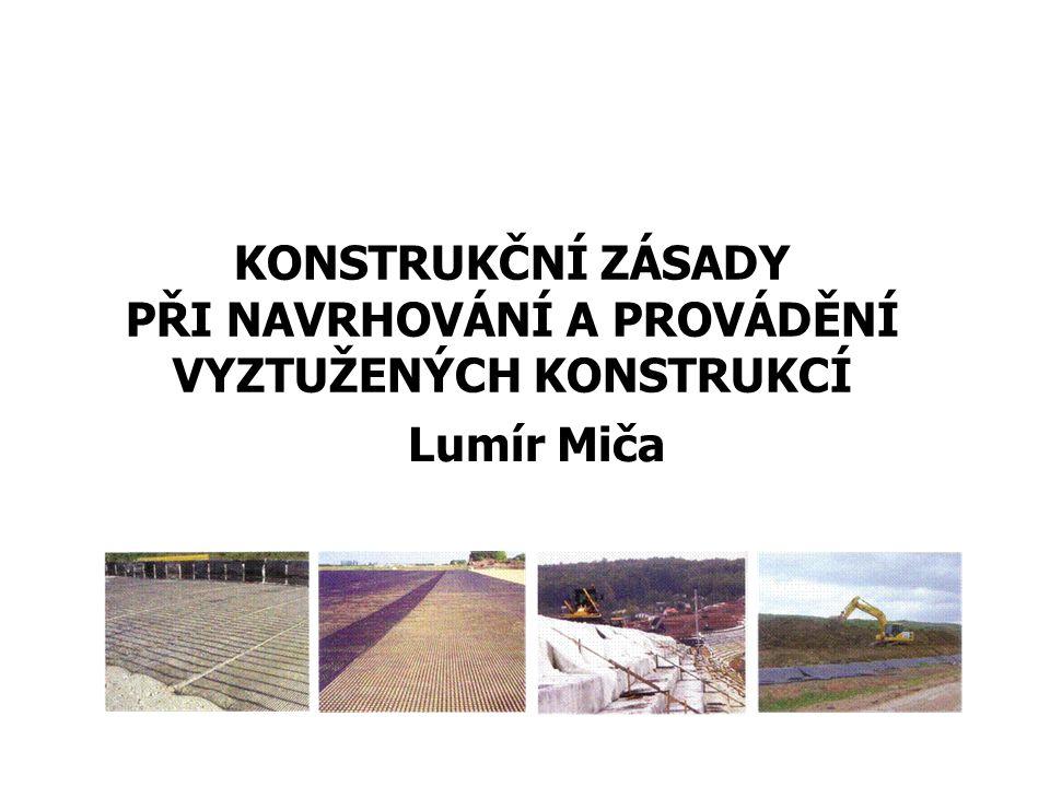 Obsah přednášky: Opěrné konstrukce (MSEW) Svahy (RSS) Báze násypu
