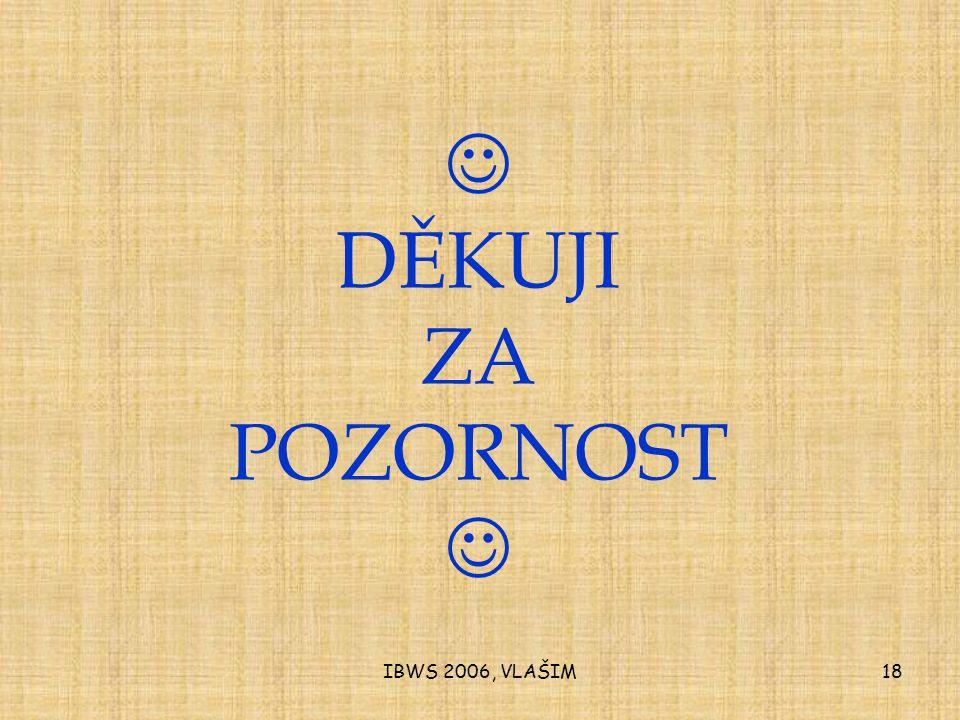 IBWS 2006, VLAŠIM18 DĚKUJI ZA POZORNOST
