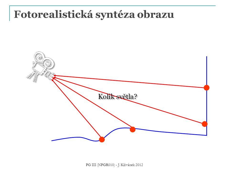Fotorealistická syntéza obrazu Kolik světla? PG III (NPGR010) - J. Křivánek 2012