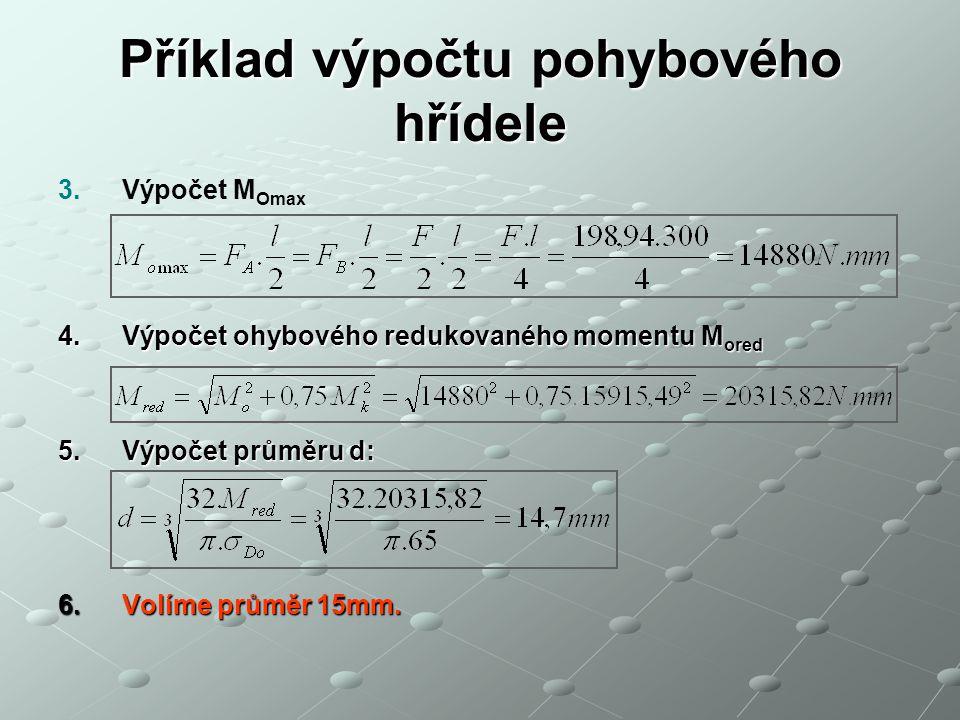 Příklad výpočtu pohybového hřídele 3.