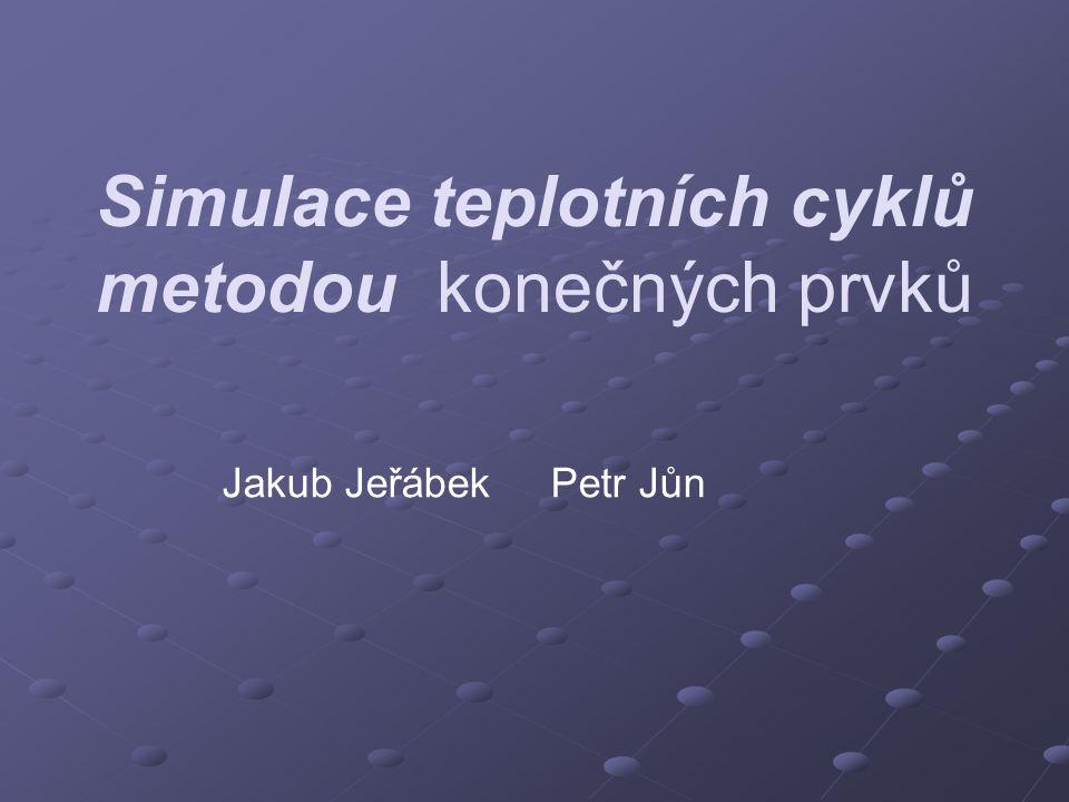 Simulace teplotních cyklů metodou konečných prvků Jakub Jeřábek Petr Jůn