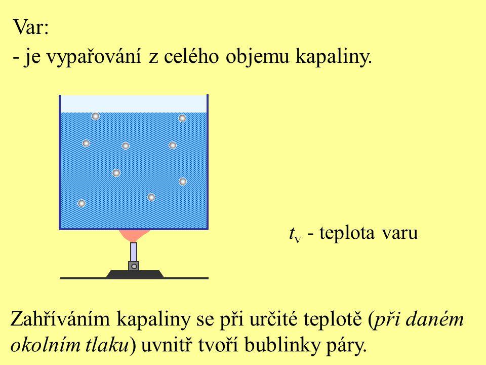 Test 3 Při vypařování kapalinu opouštějí: a) nejrychlejší molekuly, zmenšuje se vnitřní energie kapaliny – kapalina se ochlazuje b) nejrychlejší molekuly, zvětšuje se vnitřní energie kapaliny – kapalina s ochlazuje c) nejpomalejší molekuly, zmenšuje se vnitřní energie kapaliny – kapalina se ochlazuje d) nejpomalejší molekuly, zvětšuje se vnitřní energie kapaliny – kapalina se ochlazuje