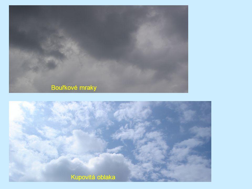 Jasná obloha Zatažená obloha