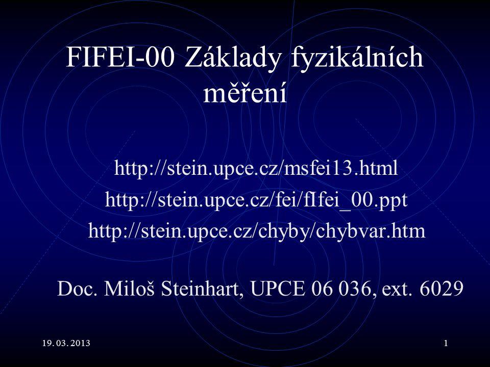 19.03. 20132 Hlavní body Fyzika je založena na experimentu.