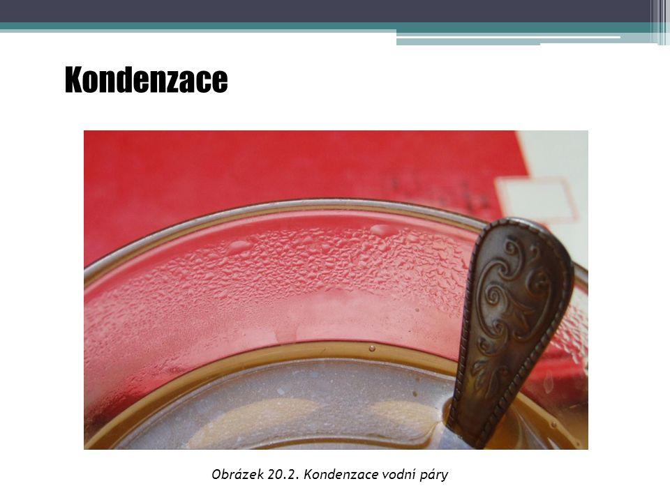 Kondenzace Obrázek 20.2. Kondenzace vodní páry