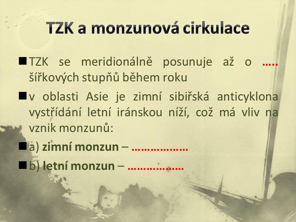 TZK se meridionálně posunuje až o …..