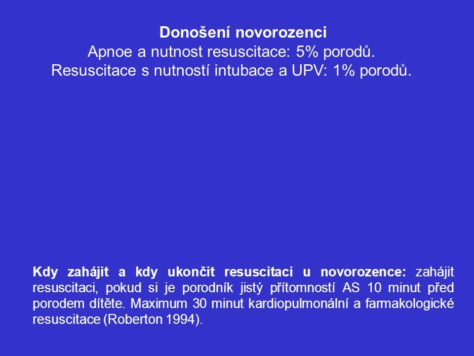 ZHODNOCENÍ - Skóre Apgarové - hodnocení stavu novorozence po porodu v 1., v 5.