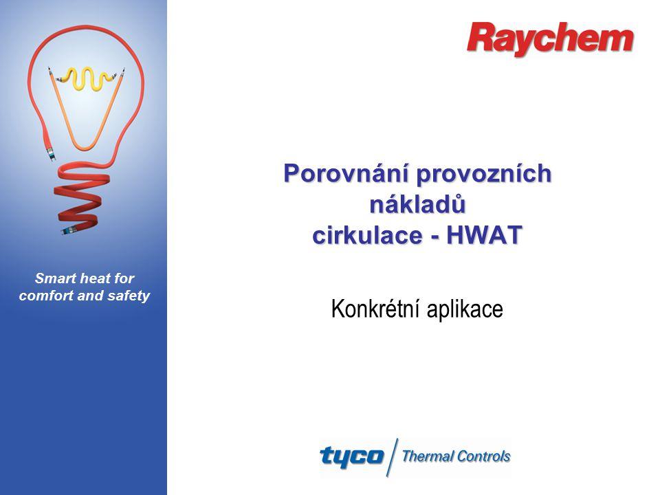 Smart heat for comfort and safety Porovnání provozních nákladů cirkulace - HWAT Konkrétní aplikace
