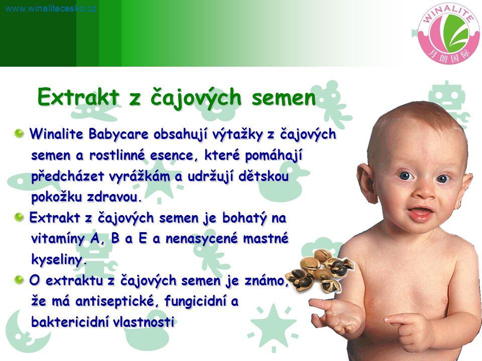 Extrakt z čajových semen Winalite Babycare obsahují výtažky z čajových Winalite Babycare obsahují výtažky z čajových semen a rostlinné esence, které p