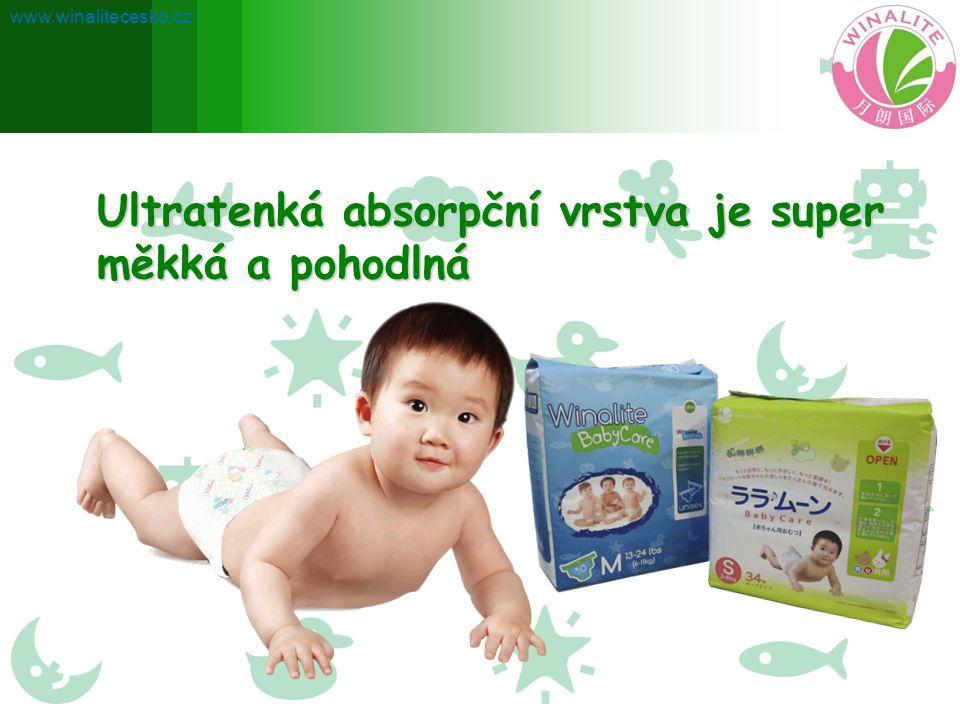 Ultratenká absorpční vrstva je super měkká a pohodlná www.winalitecesko.cz