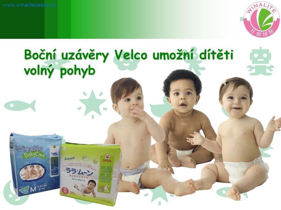 Boční uzávěry Velco umožní dítěti volný pohyb www.winalitecesko.cz