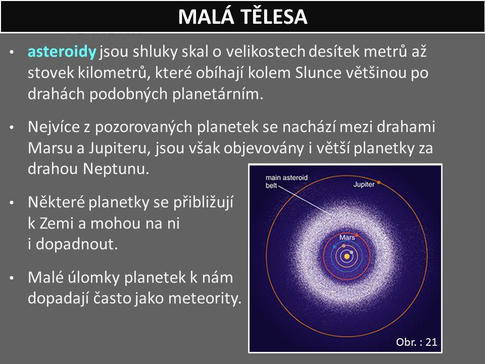 PLANETKY asteroidy jsou shluky skal o velikostech desítek metrů až stovek kilometrů, které obíhají kolem Slunce většinou po drahách podobných planetár