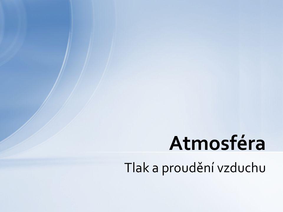 Tlak a proudění vzduchu Atmosféra