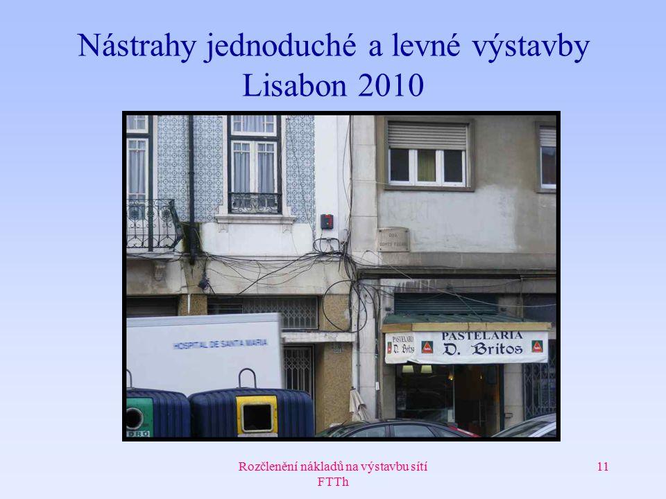 Rozčlenění nákladů na výstavbu sítí FTTh 11 Nástrahy jednoduché a levné výstavby Lisabon 2010