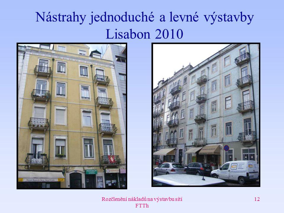 Rozčlenění nákladů na výstavbu sítí FTTh 12 Nástrahy jednoduché a levné výstavby Lisabon 2010