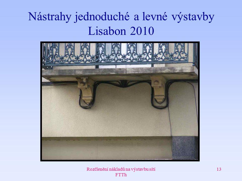 Rozčlenění nákladů na výstavbu sítí FTTh 13 Nástrahy jednoduché a levné výstavby Lisabon 2010