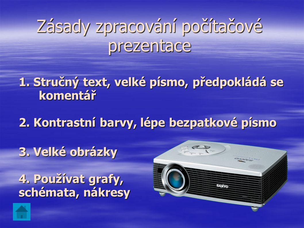 Skupinové A. Pomocí videodataprojektoru B. Na obrazovce počítače, televizoru C. Na obrazovkách více počítačů Způsoby promítání Individuální Určená pro