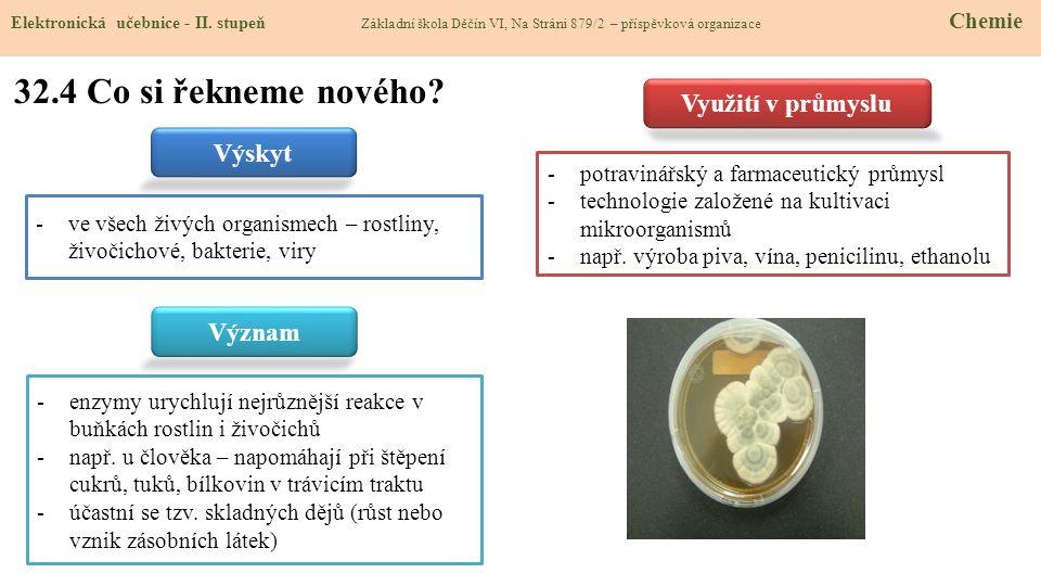 mladina (přidání chmelu, vaření, filtrace) (rozemletí a zcukernatění ve vodném roztoku) filtrace 32.5 Procvičení a příklady Elektronická učebnice - II.