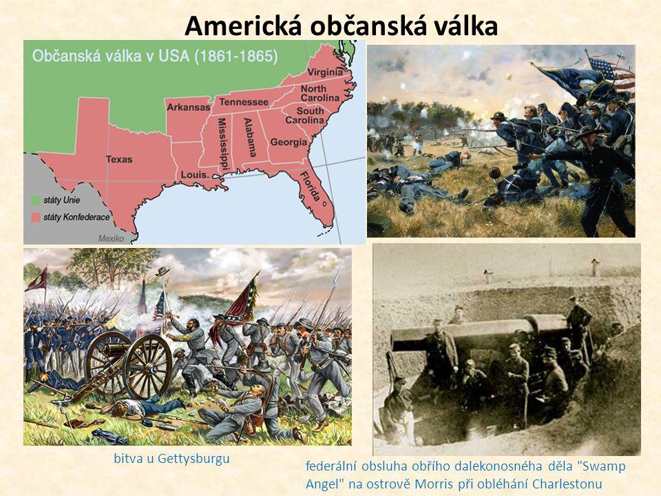 Americká občanská válka bitva u Gettysburgu federální obsluha obřího dalekonosnéha děla