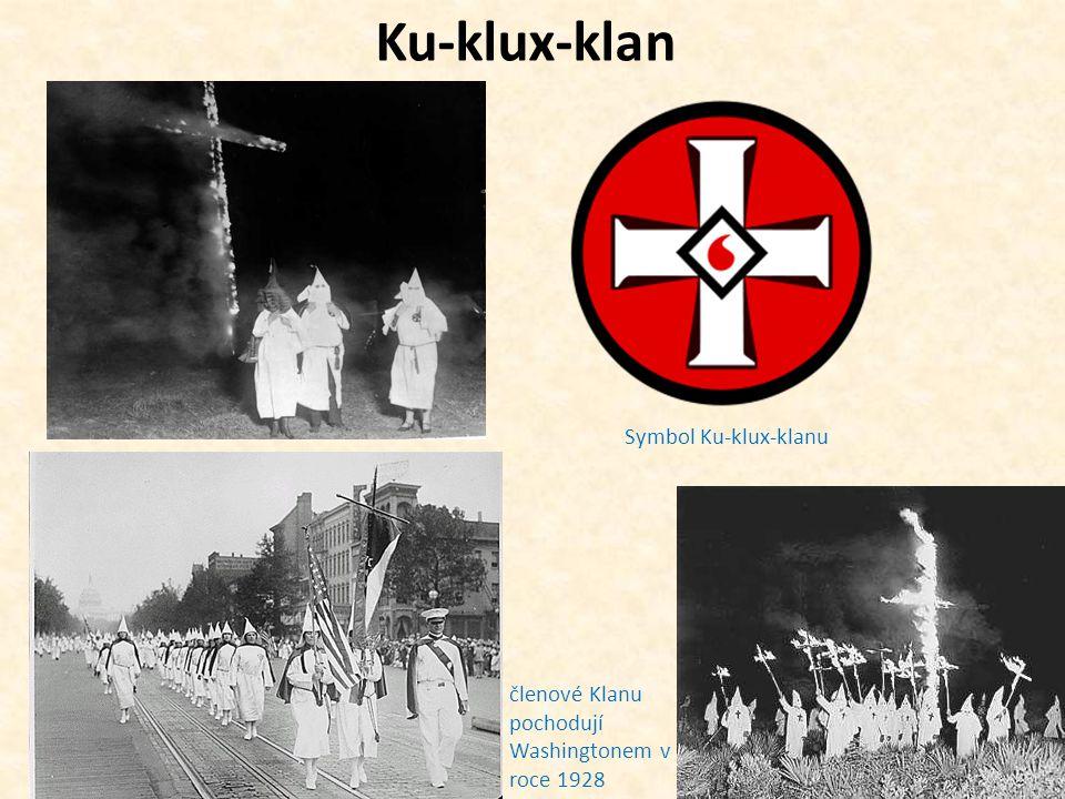Ku-klux-klan Symbol Ku-klux-klanu členové Klanu pochodují Washingtonem v roce 1928