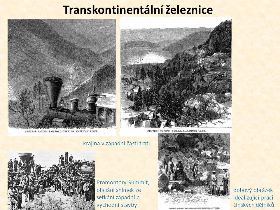 Transkontinentální železnice krajina v západní části trati Promontory Summit, oficiání snímek ze setkání západní a východní stavby dobový obrázek idea