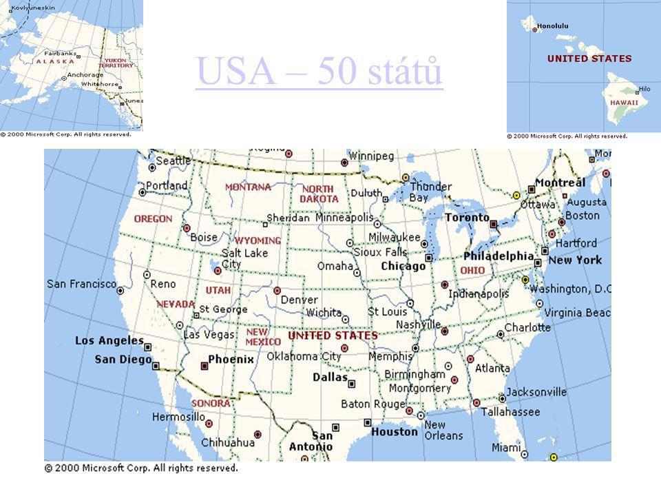 USA – 50 států