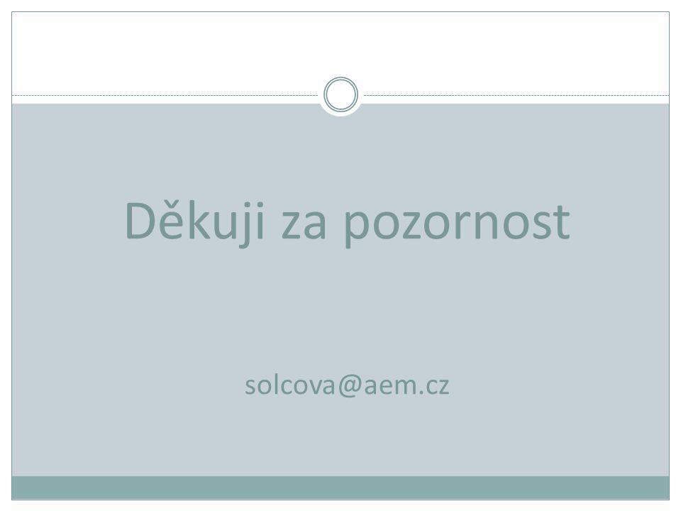 Děkuji za pozornost solcova@aem.cz