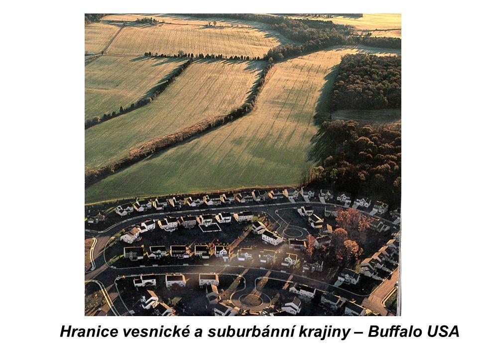 Hranice vesnické a suburbánní krajiny – Buffalo USA