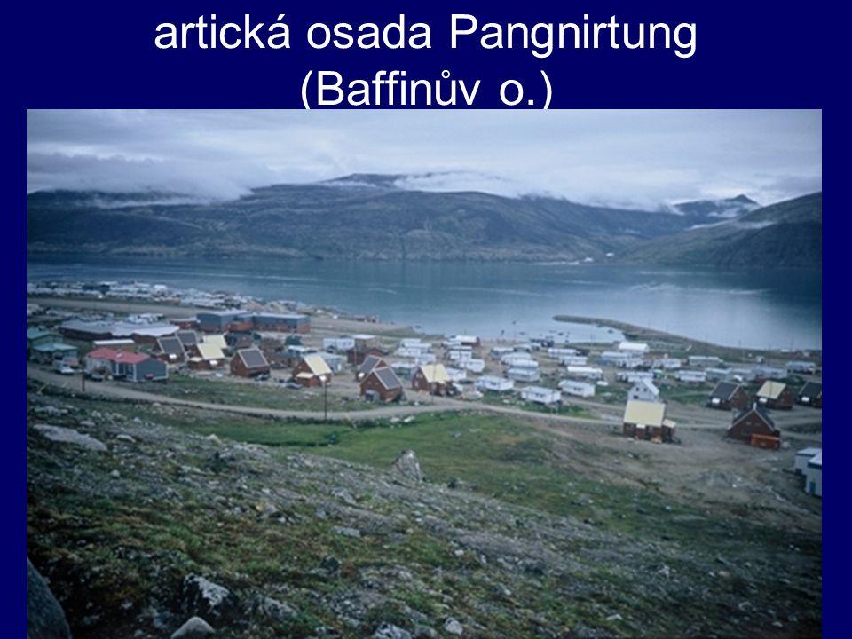artická osada Pangnirtung (Baffinův o.)