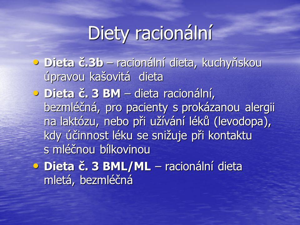 Diety racionální Dieta č.3b – racionální dieta, kuchyňskou úpravou kašovitá dieta Dieta č.3b – racionální dieta, kuchyňskou úpravou kašovitá dieta Die