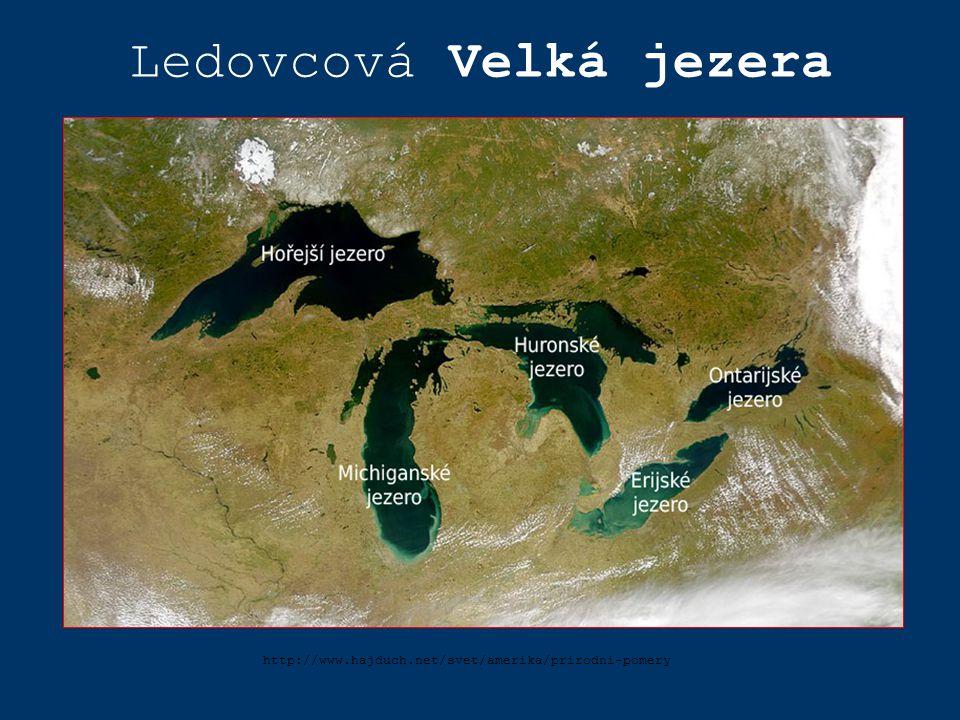 http://www.hajduch.net/svet/amerika/prirodni-pomery Ledovcová Velká jezera