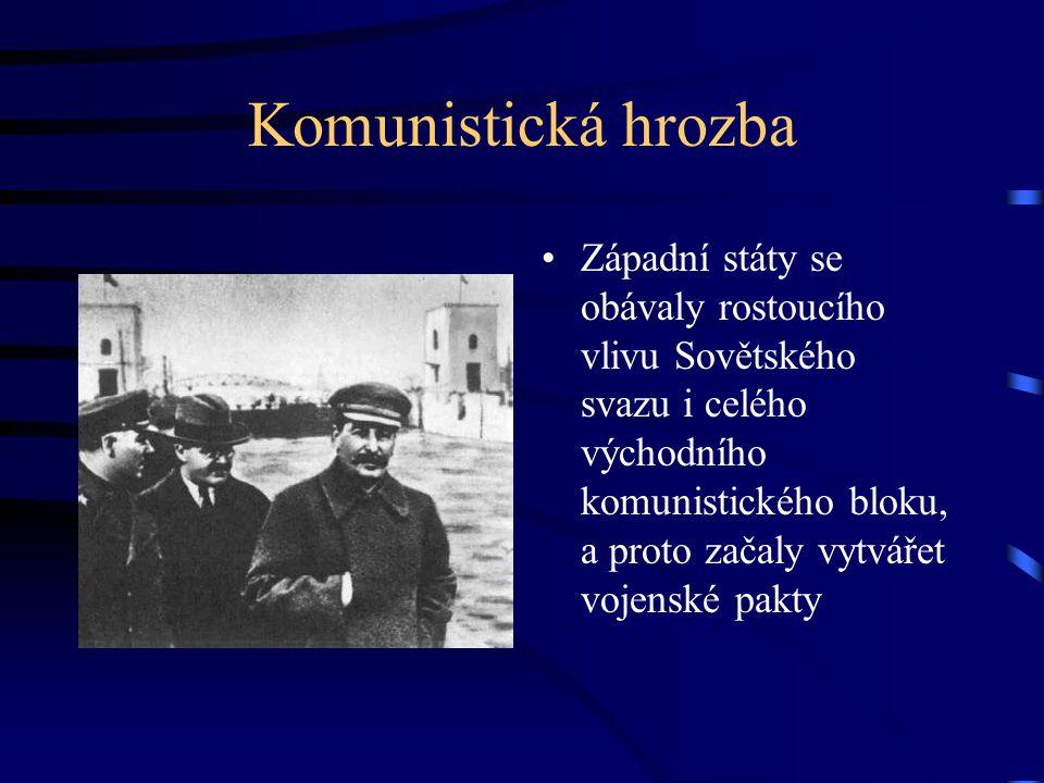 Rada vzájemné hospodářské pomoci Protože se socialistické státy kvůli železné oponě dostávaly do hospodářské izolace, rozhodly se založit mezinárodní pakt RVPH v roce 1949.