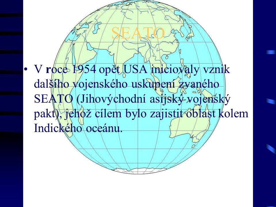 BALKÁNSKÝ PAKT Jugoslávie po roztržce se SSSR se cítila ohrožena a izolována, proto stála u zrodu tzv.